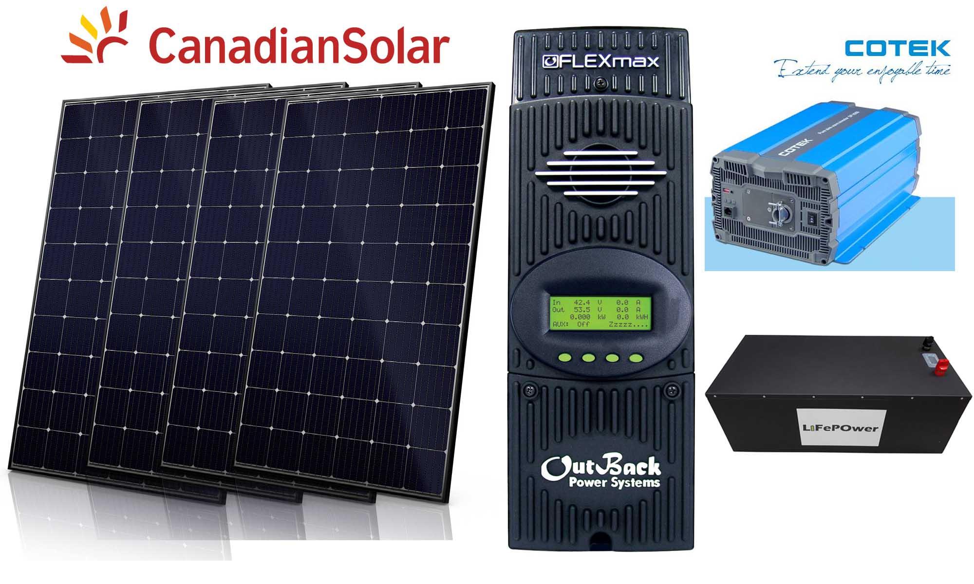 1830W Off Grid Solar Kit #3