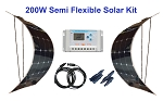 2 x 100W Semi Flexible Solar Kit