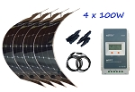 4 x 100W Semi Flexible Solar Kit