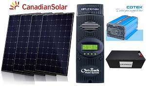 1830W Off Grid Solar Kit #3
